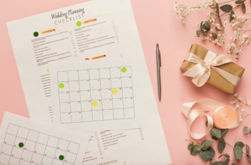 bridal background with planner checklist PV6CB95