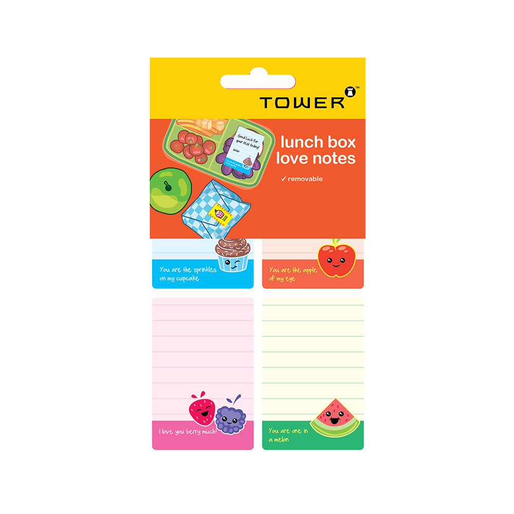 Lunch Box Writable Love Notes